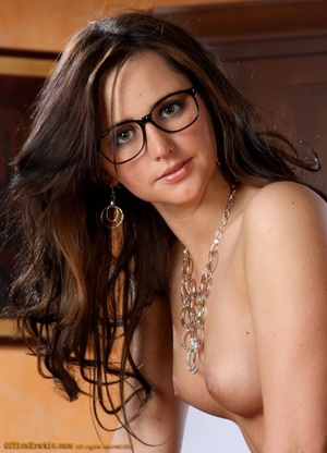 Sexy bitch in white stockings and glasse - XXX Dessert - Picture 3