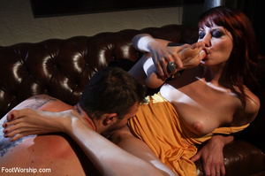 Sexy redhead bimbo gets her pussy licked - XXX Dessert - Picture 9