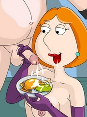 Redhead drawn wife torturing her enslaved husband and - Picture 3