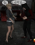 Blonde she male secretary is being forced service horny burglar in an