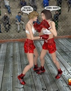 Boxer girl overpowers her brunette friend and gets sensually rewarded