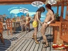 Tropical bartender enjoys a sizzling hot ladyboy servicing him on the