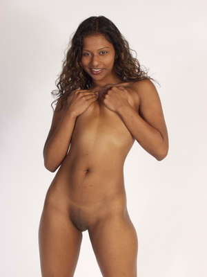 Curly Indian Girl In Tiny Shorts Toying  - Picture 4