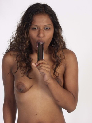 Curly Indian Girl In Tiny Shorts Toying  - XXX Dessert - Picture 8