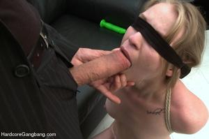 Blindfolded and bondaged blonde having h - XXX Dessert - Picture 3