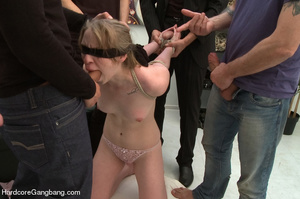 Blindfolded and bondaged blonde having h - XXX Dessert - Picture 6