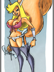 Yummy cartoon stunners are acting like cum craving - Picture 1