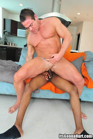 Muscular gay dude swallows big black don - XXX Dessert - Picture 8