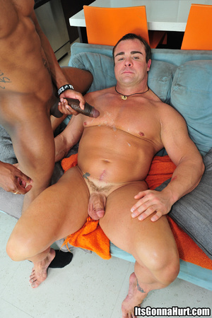 Muscular gay dude swallows big black don - XXX Dessert - Picture 11