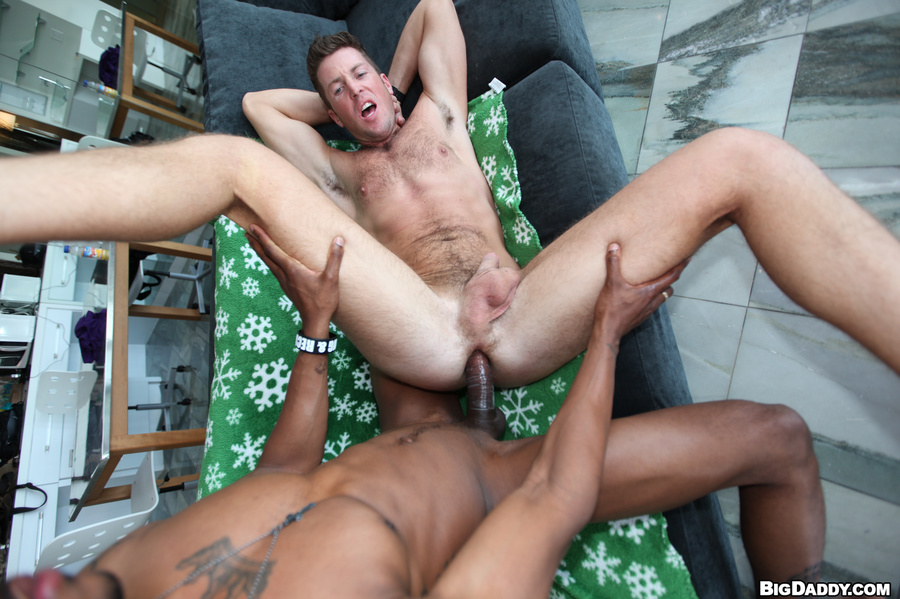 Swallow gay with black gay dick