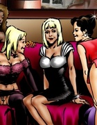 Hot interracial fucking cartoon with cool group sex at the party