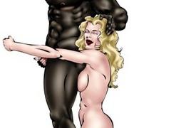 Black guy dominates mature bitch in cartoon - Popular Cartoon Porn - Picture 4