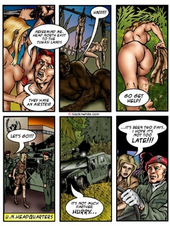 Black toon tribal caught a white dude and - Popular Cartoon Porn - Picture 1
