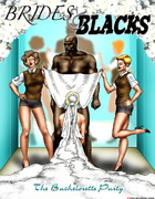 Horny bride and her maids having fun fucking with a black toon guy