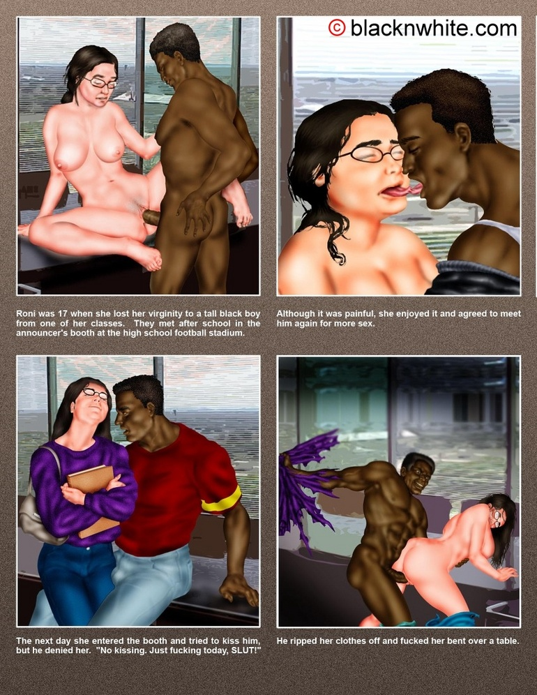 Black dude caught toon bitch and force her - Cartoon Sex - Picture 1