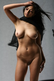 indian model posing nude