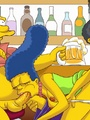 Nasty Marge Simpson participate in hot - Picture 1