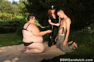 Two chubby police women in latex suits w - XXX Dessert - Picture 3