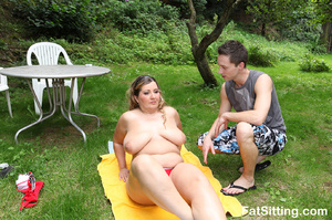 Busty fatty smothering a poor dude with  - XXX Dessert - Picture 3