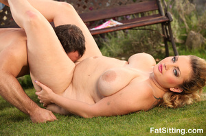 Blonde fatty Kristy turns on when gettin - XXX Dessert - Picture 13