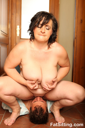 Brunette fatty sits on dude face before  - XXX Dessert - Picture 7