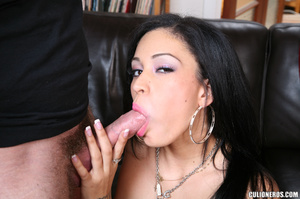 Sexy brunette gives head and then drinks - XXX Dessert - Picture 10