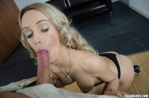 Gorgeous blonde sucks cock and swallows  - XXX Dessert - Picture 4
