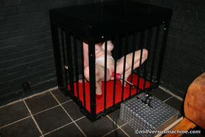 Red milf in the cage pleasing her cooch  - XXX Dessert - Picture 8