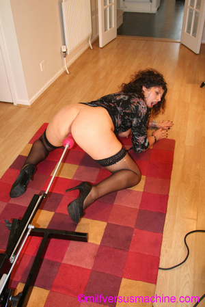Horny milf in black stockings gets her c - XXX Dessert - Picture 16
