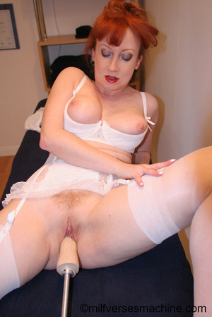 Red bitch in red shoes and white lingeri - XXX Dessert - Picture 6