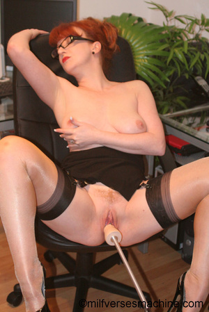 Red secretary in glasses and sexy linger - XXX Dessert - Picture 9