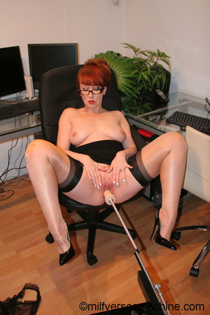 Red secretary in glasses and sexy linger - XXX Dessert - Picture 10