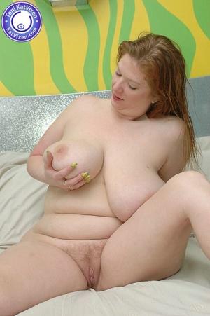Busty redhead holding her big boobs - XXX Dessert - Picture 4