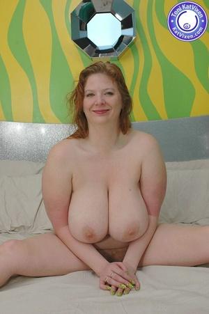 Busty redhead holding her big boobs - XXX Dessert - Picture 6