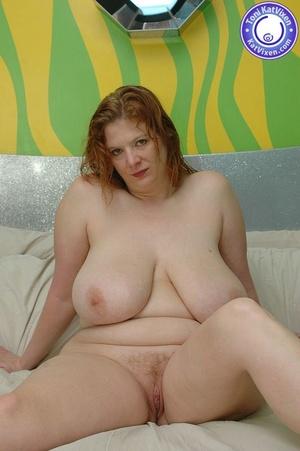 Busty redhead holding her big boobs - XXX Dessert - Picture 7