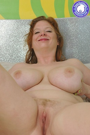 Busty redhead holding her big boobs - XXX Dessert - Picture 11