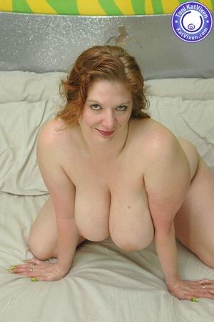 Busty redhead holding her big boobs - XXX Dessert - Picture 13