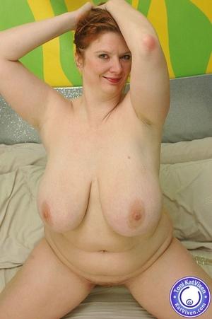 Busty redhead holding her big boobs - XXX Dessert - Picture 15