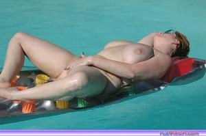 Masturbating on the pool - XXX Dessert - Picture 8