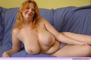 Playing with my big breasts on the bed - XXX Dessert - Picture 2