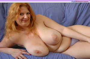 Playing with my big breasts on the bed - XXX Dessert - Picture 3