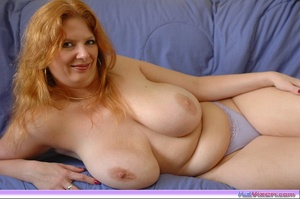 Playing with my big breasts on the bed - XXX Dessert - Picture 4