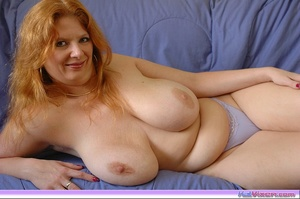 Playing with my big breasts on the bed - XXX Dessert - Picture 5