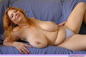 Playing with my big breasts on the bed - XXX Dessert - Picture 10