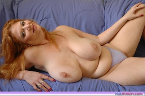 Playing with my big breasts on the bed - XXX Dessert - Picture 12
