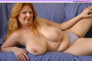 Playing with my big breasts on the bed - XXX Dessert - Picture 13