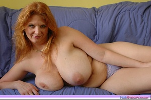 Playing with my big breasts on the bed - XXX Dessert - Picture 15