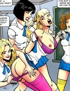 Cool toon pics of rough lesbian sex in the college with a lot of screams