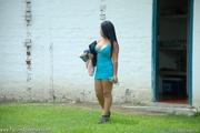 swarthy latina girl blue