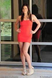 tattooed latina girl red